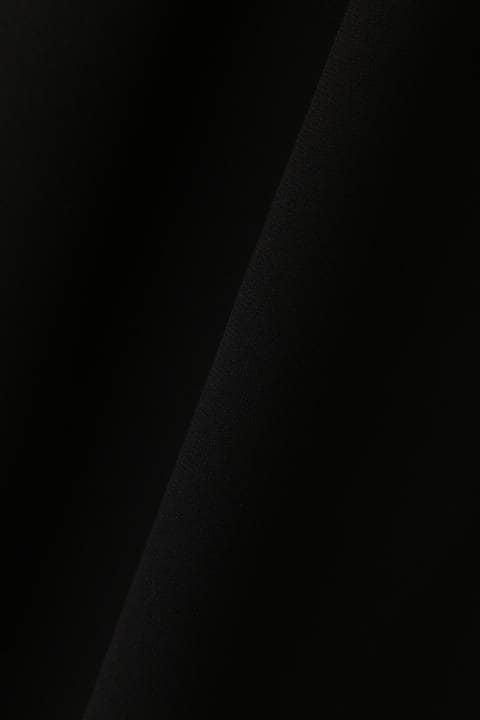 [ウォッシャブル]ソフトジョーゼットモックネックブラウス