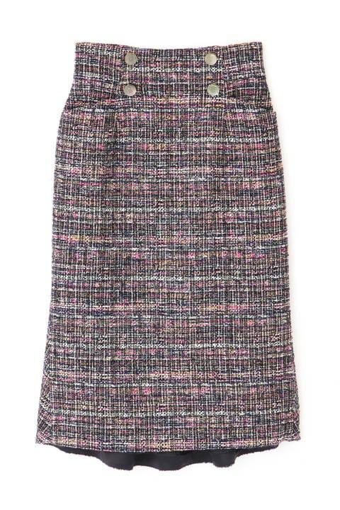 カスリツイードバックマーメイドスカート