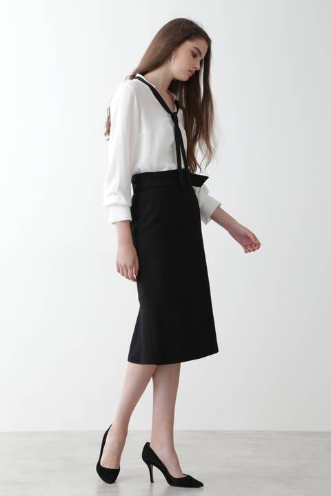 ウールサキソニーバックマーメイドスカート