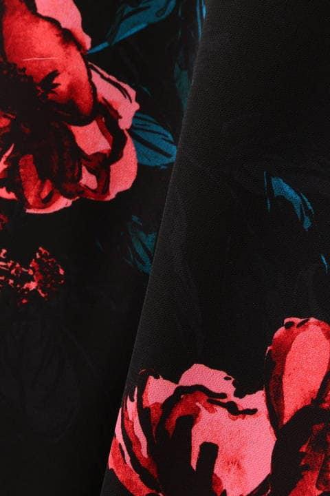 シャドーフラワープリントタイトスカート