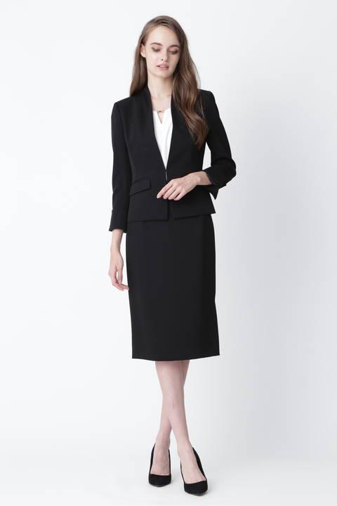 【ドラマ 黒木瞳さん着用】ハイツイストツイルサイドスリットスカート