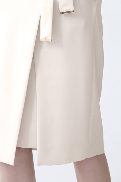 【先行予約 8月上旬-8月中旬入荷予定】メタルプレートベルト付ラップスカート
