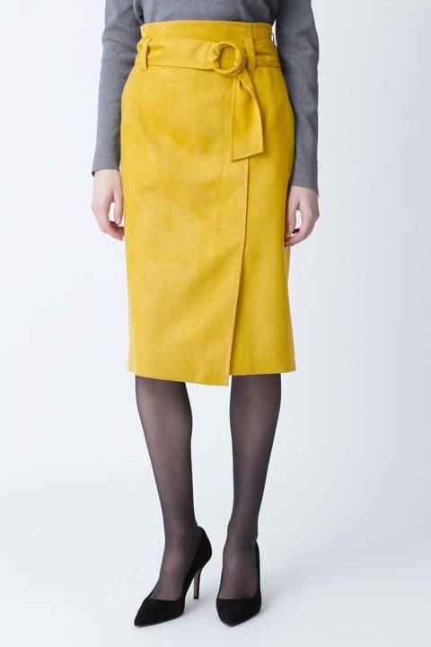 【先行予約 11月中旬-下旬入荷予定】フェイクスエードリングベルトスカート