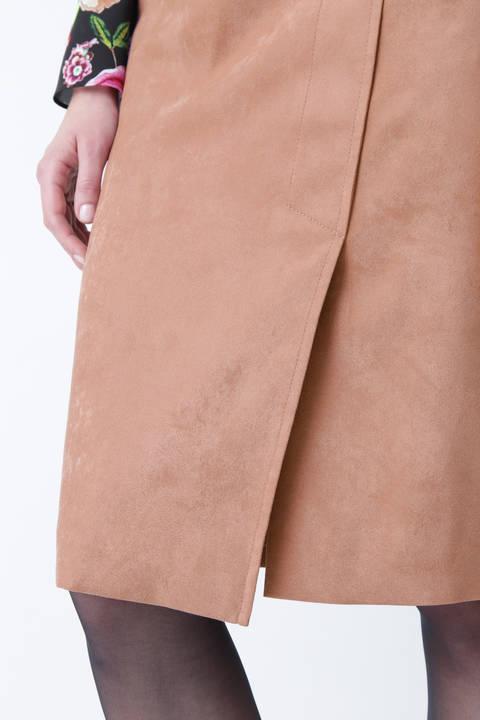 フェイクスエードリングベルトスカート