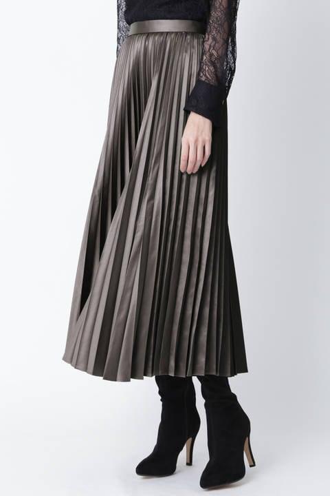 【先行予約 8月下旬-9月上旬入荷予定】ブライトプリーツスカート