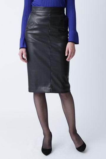 【先行予約 9月上旬-中旬入荷予定】フェイクレザーペンシルスカート