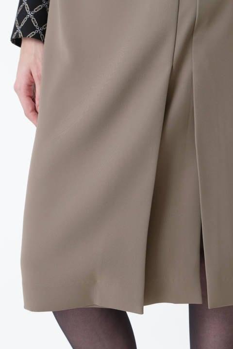 [ウォッシャブル]ダブルラップスリットスカート