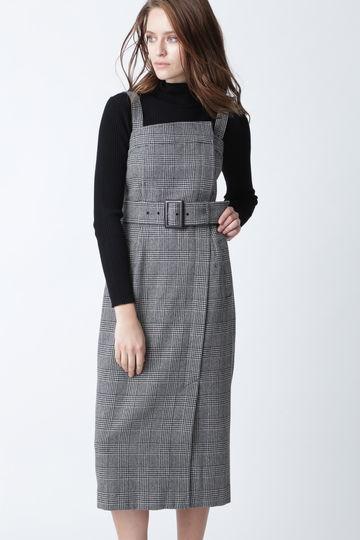 【先行予約 10月下旬-11月上旬入荷予定】グレンチェックジャンパースカート