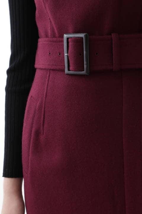圧縮ジャージジャンパースカート