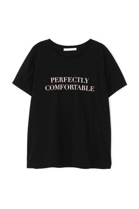 フロッキープリントロゴTシャツ