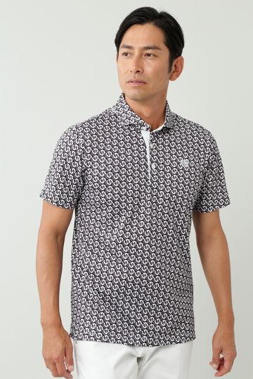 モノグラムチェックプリント半袖シャツ (MENS)