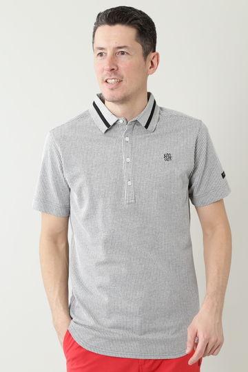サッカーストライプ 半袖ポロシャツ (MENS)