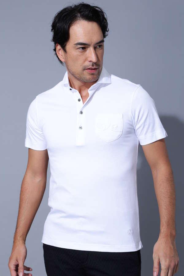 BK/コード刺繍半袖シャツ