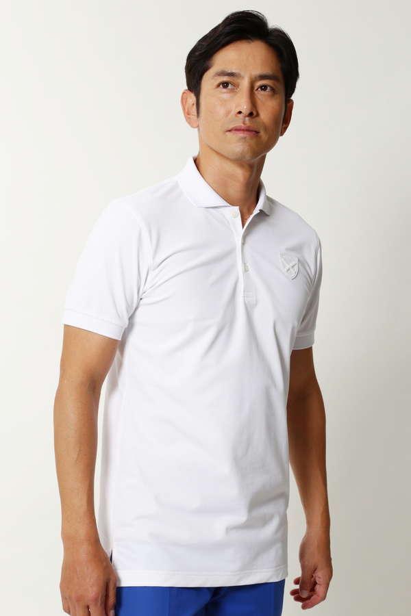 WH/鹿の子半袖ポロシャツ