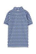 WH/36G8口鹿の子ジオメトリックプリント ポロシャツ