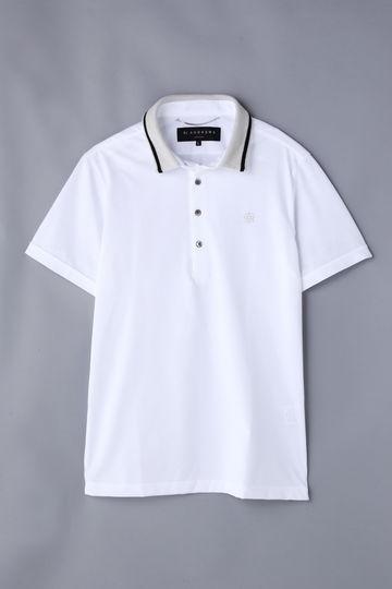【Outlet】BK/ブレーティングジャガードポロシャツ