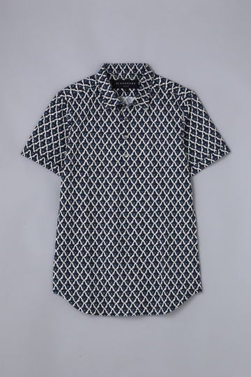 BK/ 鹿の子 モスクプリントポロシャツ