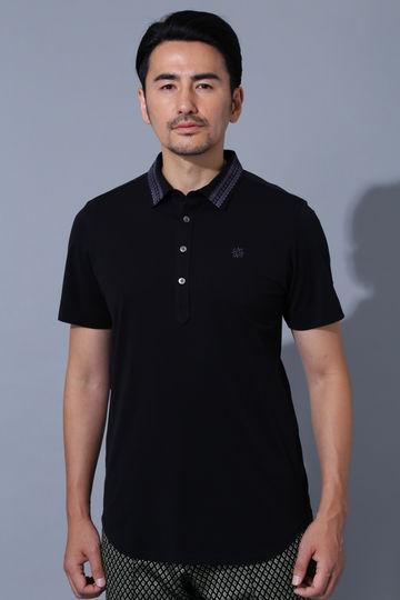 BK/鹿の子塩縮加工ポロシャツ(SWAROVSKI)