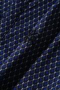 BK/半回縞幾何ダイヤ柄シャツ(SWAROVSKI)