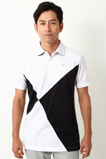 WH/ハイゲージハニカム配色ポロシャツ