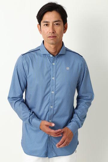 WH/ハイゲージスムースヘリンボンPtシャツ