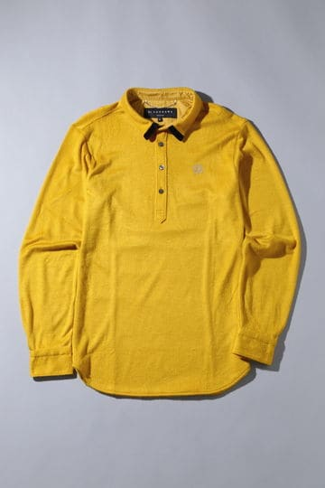 BK/シャギー起毛長袖シャツ