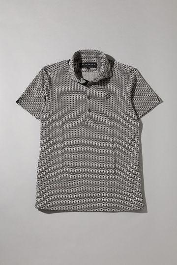BK/幾何柄ジャガードシャツ (MENS)