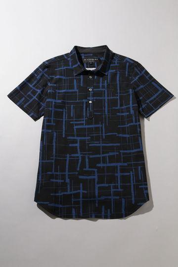 裏鹿の子手書き風チェックシャツ (MENS)