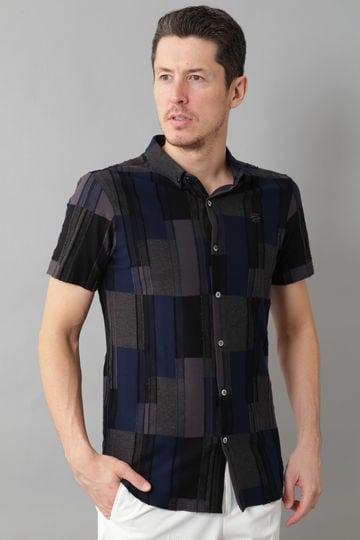 BK/ストライプバックカットシャツ (MENS)
