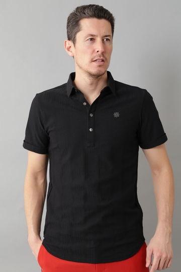 BK/ハニカムストライプ裏使いシャツ (MENS)