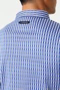 WH/3色チェックダブルジャガード長袖シャツ