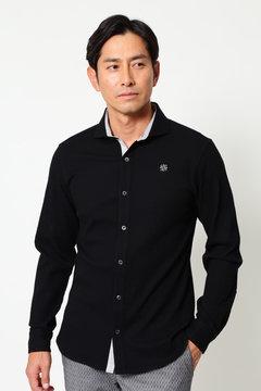 WH/リンクスジャガード長袖シャツ (MENS)
