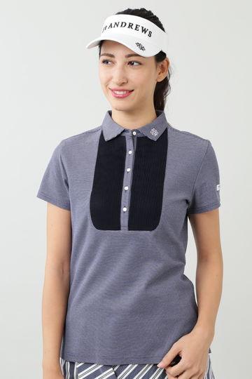 ピケ裏使い半袖シャツ (WOMENS)