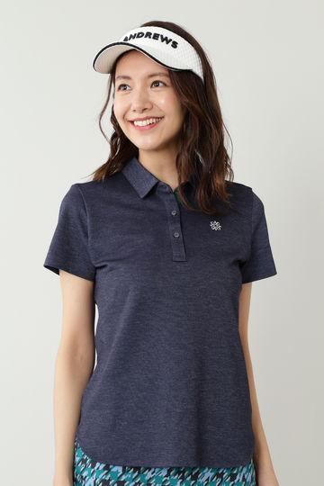 T/C鹿の子インレイ半袖シャツ (WOMENS)