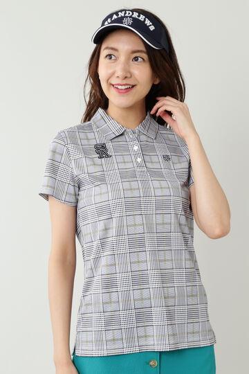 Uchimizuグレンチェックプリント半袖シャツ (WOMENS)
