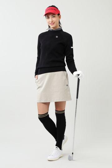 市松柄風 長袖シャツ (WOMENS)