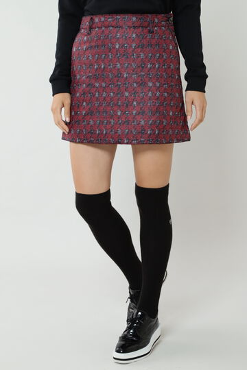 LINTON千鳥エンボスプリント中綿スカート (WOMENS)