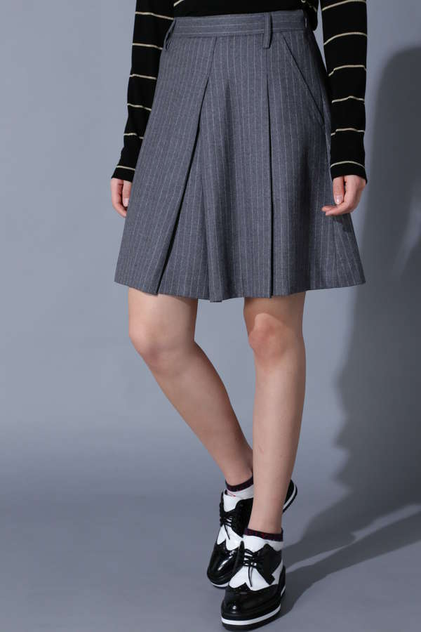 【Outlet】BK/ストライプ・チェック柄スカート