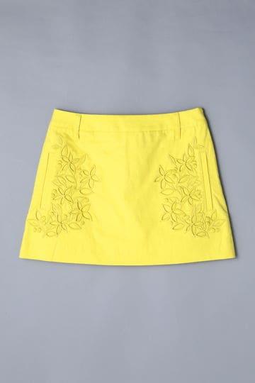 BK/ストレッチタッサー刺繍スカート