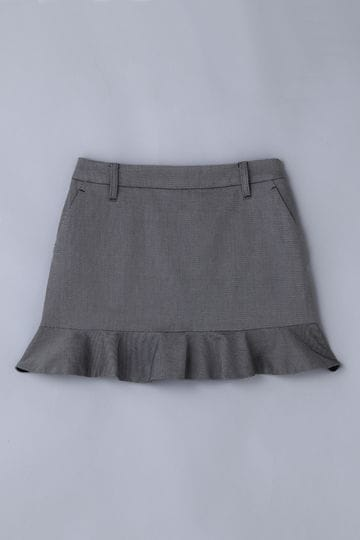 【Outlet】BK/裾フリルスカート