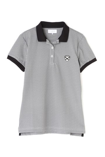 WT/30G8口鹿の子ヘリンボンポロシャツ