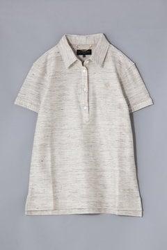 BK/綿麻メランジインレイ ポロシャツ