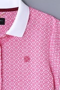 BK/花柄ジャガードポロシャツ