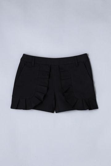 【Outlet】BK/綿麻ボディシェルオックス ショートパンツ