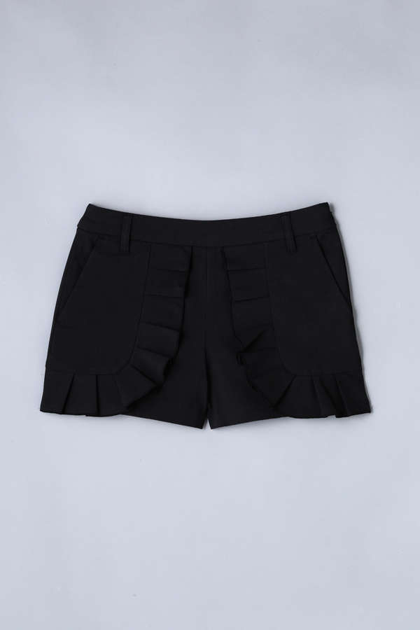 BK/綿麻ボディシェルオックス ショートパンツ