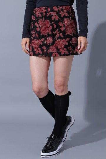 BK/ゴブランジャガードローズ柄スカート