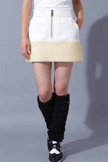BK/レザーボアスカート (WOMENS)