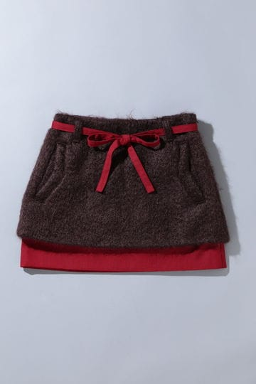 BK/モヘヤループカットスカート