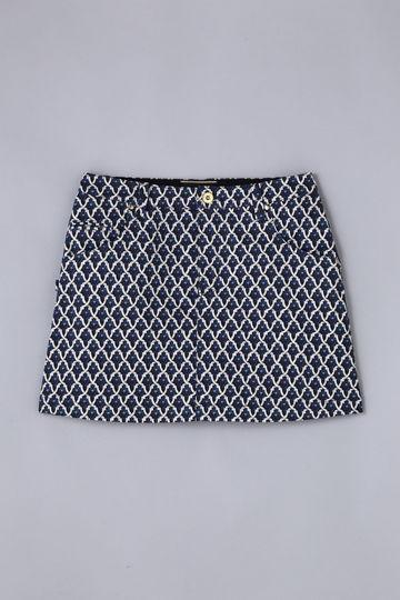 BK/ モスクプリント ストレッチスカート