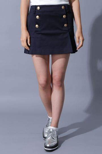 BK/サテンシルバインスカート